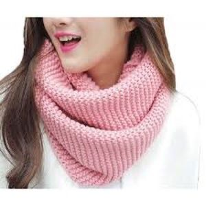 Pink Thick Scarf
